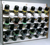 Wall Mounted Module Paint Display (Holds 28 35ml/60ml Bottles) Vallejo Paint