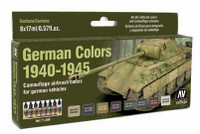 17ml Bottle German Vehicle Camouflage Colors 1940-1945 Model Air Paint Set (8 Colors) Vallejo Paint