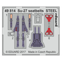 Seatbelts Su-27 Steel for HBO (Painted) 1/48 Eduard