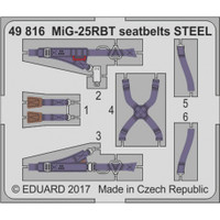 Seatbelts MiG-25RBT Steel for ICM (Painted) 1/48 Eduard