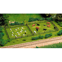3-Rail Fence & Gate Kit HO Scale Atlas