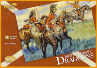 Napoleonic British Heavy Dragoons (12 Mtd) 1/72 Hat