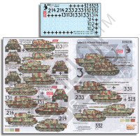 Jagdtiger SdKfz 186 (Henschel & Porsche Suspensions) 1/35 Echelon Decals