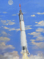 Mercury Spacecraft w/Redstone Booster 1/72 Horizon Models