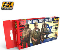 Figure Series: IDF Uniform Colors Acrylic Paint Set (6 Colors) 17ml Bottles AK Interactive