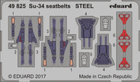 Seatbelts Su-34 Steel for HBO (Painted) 1/48 Eduard