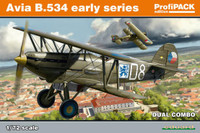 Avia B534 Early Series BiPlane Fighter Dual Combo (Profi-Pack) 1/72 Eduard