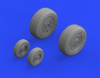 F-4J Wheels for Zoukei (Resin & Mask) 1/48 Eduard