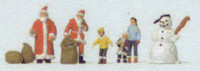Santa (2), Children (3) & Snowman N Scale Preiser Models