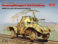 WWII German Panzerspahwagen P204(f) Railway Armored Vehicle 1/35 ICM Models