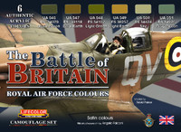 The Battle of Britain Royal Air Force Colors Camouflage Acrylic Set (6 22ml Bottles) Lifecolor