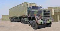 US M915 Army Truck w/40' Container Trailer 1/35 Trumpeter