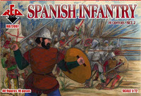 Spanish Infantry XVI Century Set #2 (40) 1/72 Red Box Figures