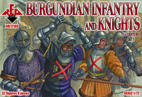 Burgundian Infantry & Knights XV Century Set #1 (32) 1/72 Red Box Figures