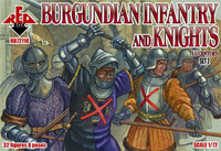 Burgundian Infantry & Knights XV Century Set #2 (32) 1/72 Red Box Figures