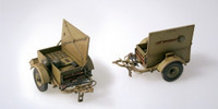 German SD Anhanger 51 Military Supply Trailers (2) 1/35 Italeri