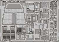 H8K2 Emily Nose Interior for HSG 1/72 Eduard