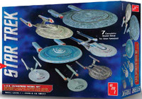 Star Trek USS Enterprise Set: (7 Snap Kits) 1/2500 AMT Models