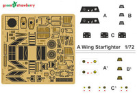 Star Wars A-Wing Starfighter Detail Set for BAN (Photo-Etch) 1/72 Green Strawberry