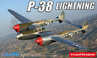 P-38 Lightning Aircraft w/Deformation Aircraft (2 Kits) 1/144 Fujimi