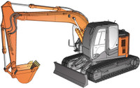 Hitachi Excavator Zaxis 135US Construction Machinery 1/35 Hasegawa