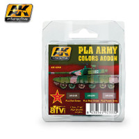AFV Series: PLA Army Colors Add-on Acrylic Paint Set (3 Colors) 17ml Bottles AK Interactive