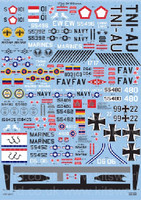 OV-10 Broncos NWEF New Mexico, NAS China Lake, NAS Maryland, Luftwaffe, etc 1/72 Warbird Decals