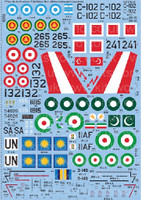 F-86F Sabre Non-US/ Commonwealth Operators 1/72 Warbird Decals