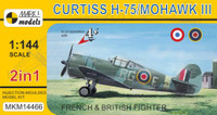 Curtiss H75/Mohawk Mk III French/British AF Fighter (2 Kits) 1/144 MARK I Models