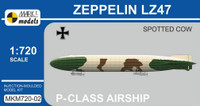 Zeppelin LZ47 Spotted Cow P-Class German Airship 1/720 MARK I Models