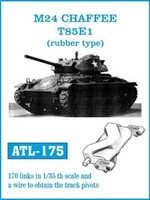 M24 Chaffee T85E1 (Rubber-Type) Track Set (170 Links) 1/35 Friulmodel