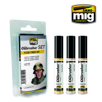 Flesh Tones Oilbrusher Set (3 colors) AMMO of Mig Jimenez