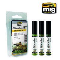 Green Tones Oilbrusher Set (3 colors) AMMO of Mig Jimenez