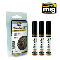 Ground Colors Oilbrusher Set (3 colors) AMMO of Mig Jimenez