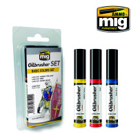 Basic Colors Oilbrusher Set (3 colors) AMMO of Mig Jimenez