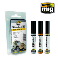 Light Fading Oilbrusher Set (3 colors) AMMO of Mig Jimenez
