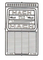 Mack R600/R700 Truck Grille 1/24-1/25 Detail Master