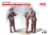 American Firemen & Boy 1910s (3) 1/24 ICM Models
