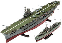 HMS Ark Royal Aircraft Carrier & Tribal Class Destroyer (2 Kits) 1/720 Revell Germany