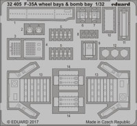 F-35A Wheel & Bomb Bays for ITA 1/32 Eduard