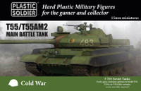 Cold War Soviet T-55A/AM2 Main Battle Tank (5) 15mm Plastic Soldier