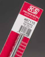 "1/4""x12"" Round Stainless Steel Tube .025 Wall K&S Engineering"