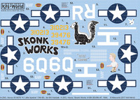 A-20G Havoc Skonk Works 410th BG/9th AF 1944, H Little Isadore 13th BS 3rd BG AF Nadzab 1/48 Warbird Decals