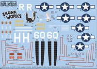 A-20G Havoc Skonk Works 410th BG/9th AF 1944, H Little Isadore 13th BS 3rd BG AF Nadzab 1/72 Warbird Decals