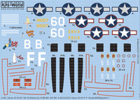 A-20J Havoc 60*B Mama Lou 410th BG 647 BS, A20G-25-DO F Sweet Milk/Baby Doll II 386th BS 312th BG 1/72 Warbird Decals