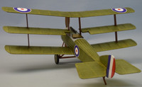 "18"" Wingspan Sopwith Rubber Pwd Aircraft Laser Cut Kit Dumas"