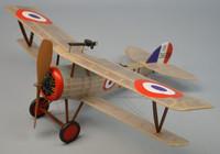 "18"" Wingspan Nieuport 27 Rubber Pwd Aircraft Laser Cut Kit Dumas"