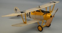 "18"" Wingspan Pfalz D3 Rubber Pwd Aircraft Laser Cut Kit Dumas"