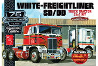 White Freightliner SD/DD Tractor Cab 75th Anniversary (2 in 1) 1/25 AMT Models