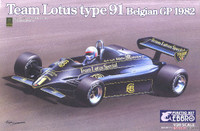 1982 Lotus Type 91 Team Lotus F1 Belgian Grand Prix Race Car 1/20 Ebbro